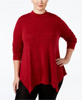 Style&Co. Style & Co Plus Size Mélange Mock-Neck Top, Only at Macy's