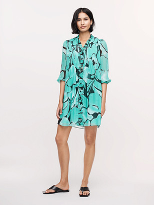 Diane von Furstenberg Layla Silk-Chiffon Mini Dress