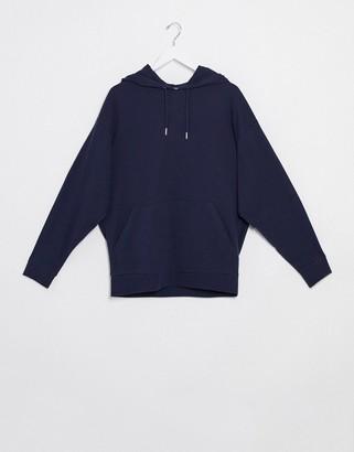 ASOS DESIGN lightweight oversized hoodie in navy