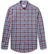Dunhill - Button-down Collar Checked Cotton Oxford Shirt