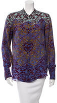 Veronica Beard Batik Print Silk Top