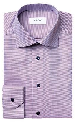 Eton Slim-Fit Textured Twill Dress Shirt