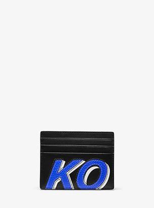 Michael Kors Greyson Tall KORS Leather Card Case