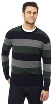Maine New England Big And Tall Multi-coloured Striped Print Jumper