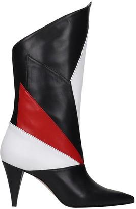 Marc Ellis High Heels Boots In Black Leather