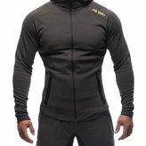 BROKIG Men's Gym Zipper Hoodie, Active Muscle Slim Fit Hoody Hooded Sweatshirts with Two Zip Pockets (Large=(Tag XL), )