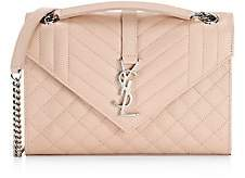 Saint Laurent Women's Medium Envelope Monogram Matelassé Leather Shoulder Bag