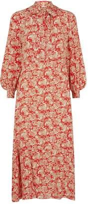 Sandro Silk Paisley Midi Dress