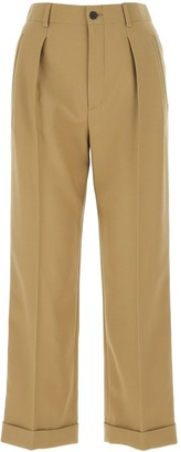 Saint Laurent High Waisted Cropped Trousers