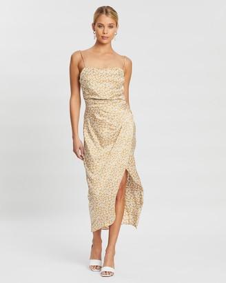 Bec & Bridge Zoe Midi Wrap Silk Dress