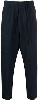 Elasticated Waist Drop-Crotch Trousers