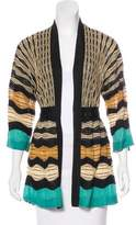M Missoni Pattern Knit V-Neck Cardigan