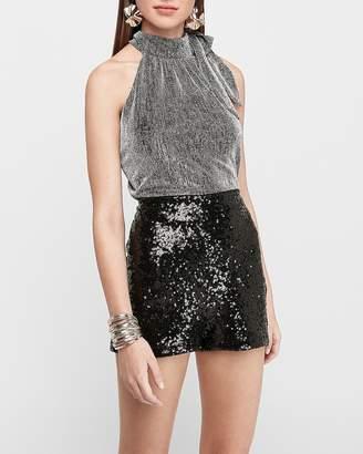 Express Super High Waisted Sequin Shorts