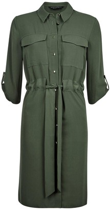 Dorothy Perkins Drawstring Shirt Dress - Khaki