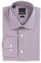 David Donahue Men's Trim Fit Check Dress Shirt