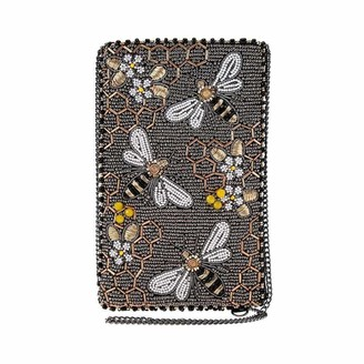 Mary Frances Bee Awesome Beaded Crossbody Phone Bag