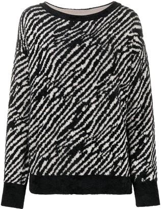 Liu Jo Zebra-Print Knit Jumper