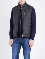 Brunello Cucinelli Goose feather-filled wool gilet