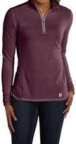 Carhartt Force High-Performance Shirt - Zip Neck, Long Sleeve (For Women)
