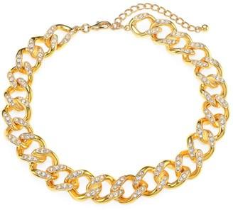 Kenneth Jay Lane Crystal Link Goldplated Necklace