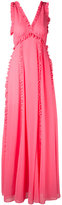 MSGM frill trim maxi dress - women - Polyester - 40
