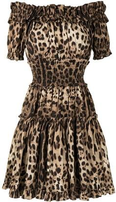 Dolce & Gabbana Leopard-Print Short Dress