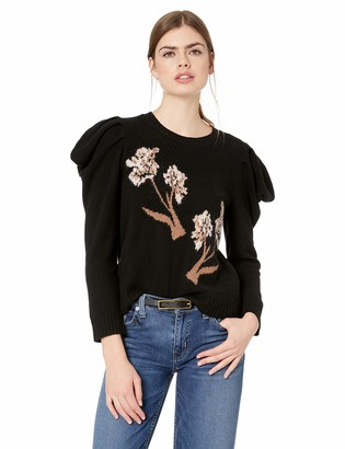 BCBGMAXAZRIA Women's Iris Draped Sleeve Sweater