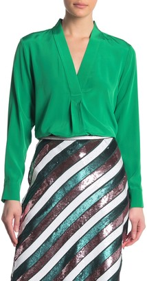 Diane von Furstenberg Sanorah Silk Pleated Back Blouse