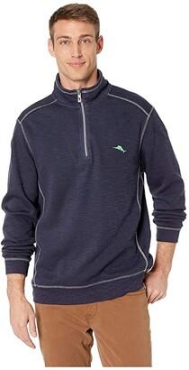 Tommy Bahama Tobago Bay 1/2 Zip Pullover (Ocean Deep) Men's Sweater