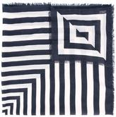 Closed striped scarf - women - Cotton/Lyocell - One Size