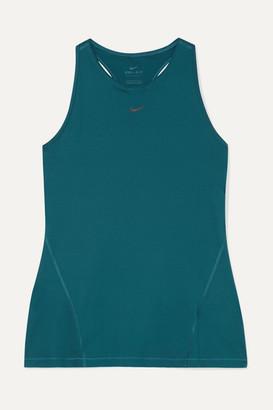 Nike Pro Stretch-mesh Tank - Teal