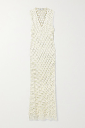 Marysia Swim Tasseled Crocheted Bamboo Maxi Dress - Cream