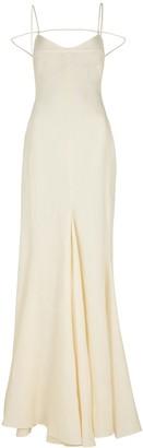 Jacquemus La Robe Camargue ivory linen gown