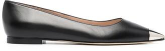 Stuart Weitzman Metallic Toe Ballerina Shoes