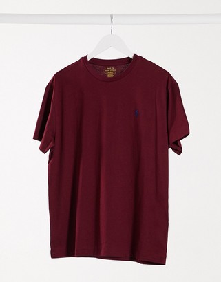 Polo Ralph Lauren classic fit t-shirt in burgundy with pony logo