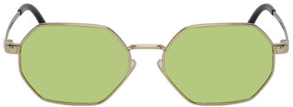 Versace Gold and Green Pop Chic Sunglasses