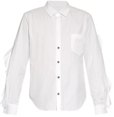 Toga Ruffle-trimmed cotton-poplin shirt