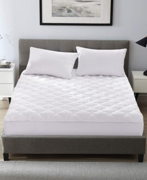 UNIKOME Four Leaf Clover Quilted Down Alternative Mattress Pad, Twin