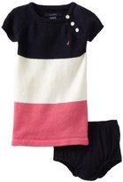 Nautica Sportswear Kids Baby-girls Infant Bold Stripe Sweater Dress