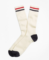 Brooks Brothers Kennedy Stripe Crew Socks