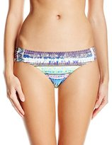Jessica Simpson Women's Limelight Side-Shirred Hipster Bikini Bottom
