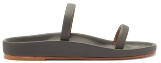 LAUREN MANOOGIAN Line Leather-faced Cork Sandals - Black
