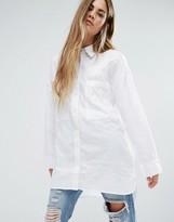 Ellesse Relaxed Longline Boyfriend Shirt