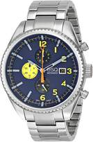 ESQ by Movado ESQ Movado Men's 07301446 Catalyst Ionic Black-Plated Steel and Bracelet Blue Chrono Dial Watch