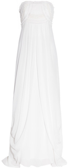 Temperley London Long Mirage silk-georgette gown