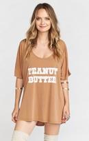 MUMU Benji Tunic Tee ~ Peanut Butter Graphic