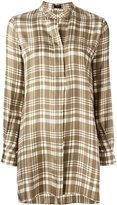 Joseph long checked blouse - women - Silk - 36