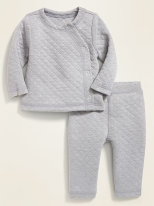 Old Navy Diamond-Quilted Jersey Kimono Top & Pants Set for Baby
