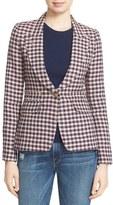 Smythe Women's Check Linen Blazer