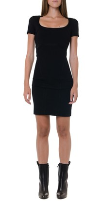 DSQUARED2 Black Short Viscose Dress